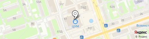 Анна Крановна на карте Дзержинска