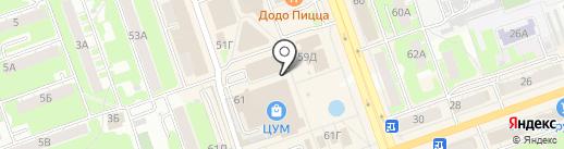 Кристи на карте Дзержинска