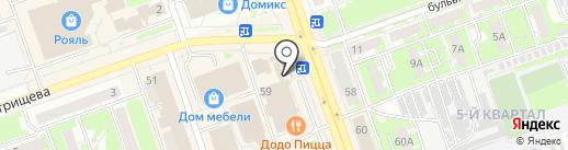 Пять звезд на карте Дзержинска