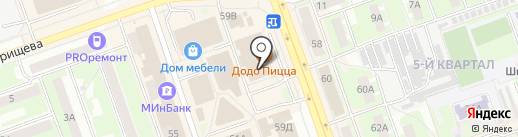 Салон головных уборов на карте Дзержинска
