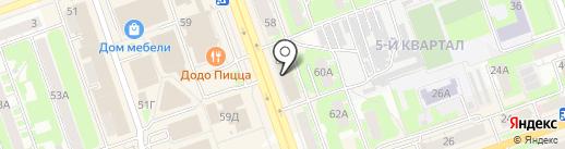 Формула мебели на карте Дзержинска