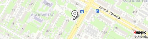 Призма на карте Дзержинска