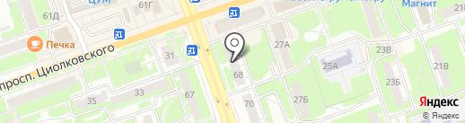 Цветочная лавка на карте Дзержинска