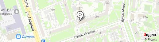Материк на карте Дзержинска