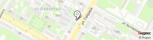 Магазин мебельной фурнитуры на карте Дзержинска