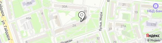 Федерация черлидинга на карте Дзержинска