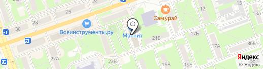 Школьник на карте Дзержинска