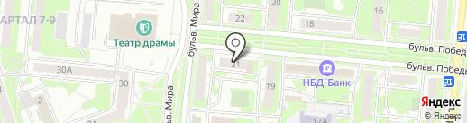 Суши-маркет на карте Дзержинска