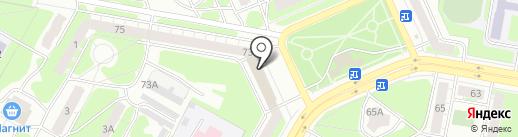 Автомобилист на карте Дзержинска
