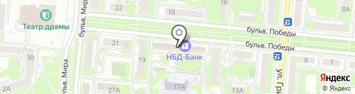НБД-Банк на карте Дзержинска