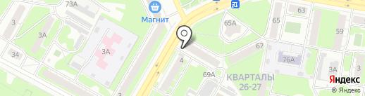 Жигули на карте Дзержинска