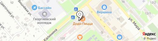 Краснодарзооветснаб, ЗАО на карте Георгиевска