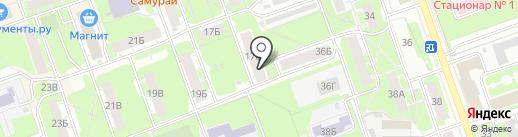 Центр психолого-педагогической, медицинской и социальной помощи, МБУ на карте Дзержинска