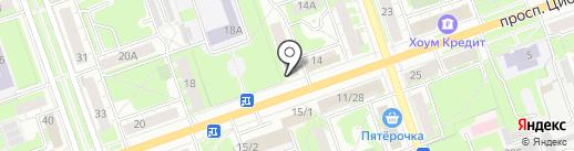 Стивалини на карте Дзержинска