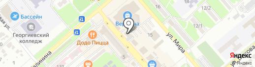 Рыболов на карте Георгиевска