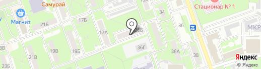 Волжско-Окское управление Федеральной службы по экологическому, технологическому и атомному надзору на карте Дзержинска