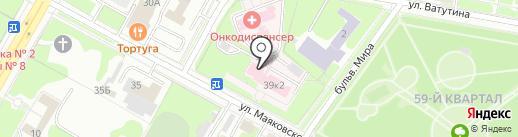 Нижегородский областной клинический онкологический диспансер на карте Дзержинска