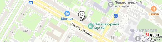 Розовый рай на карте Дзержинска