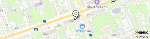 НУГА БЕСТ на карте Дзержинска