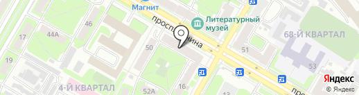 Магазин бытовой химии на проспекте Ленина на карте Дзержинска
