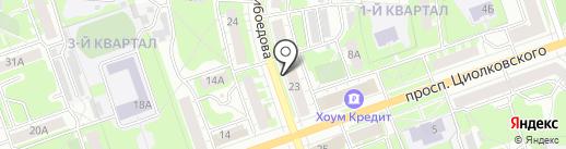 Национальная почтовая служба на карте Дзержинска