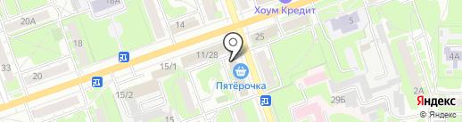 Восход на карте Дзержинска