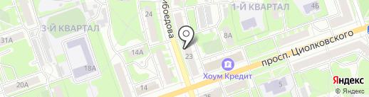 Магазин дверей на ул. Грибоедова на карте Дзержинска