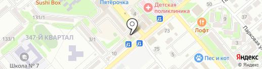 Подиум на карте Георгиевска