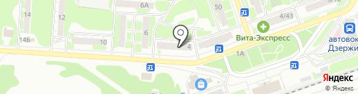 Технозал на карте Дзержинска