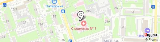 Городская детская больница №8 на карте Дзержинска