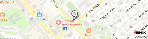 Автостоянка на карте Георгиевска