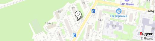 Магазин автотоваров на карте Дзержинска