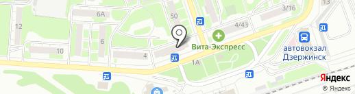 Билайн на карте Дзержинска