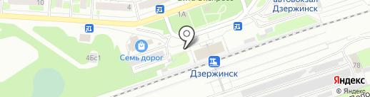 Киоск по продаже цветов на карте Дзержинска