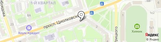 Деловой Дзержинск на карте Дзержинска