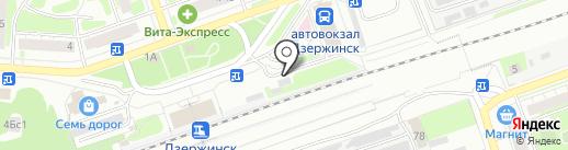 Фрегат на карте Дзержинска