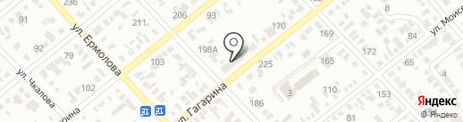 Магазин строительных материалов на карте Георгиевска