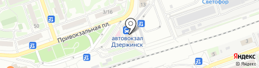 Кафе-закусочная на карте Дзержинска
