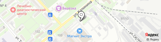 Киоск фастфудной продукции на карте Георгиевска