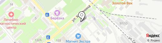 Компас на карте Георгиевска