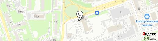 Пожарная часть №11 на карте Дзержинска