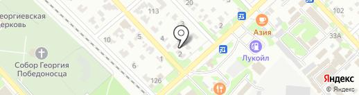 Триколор на карте Георгиевска