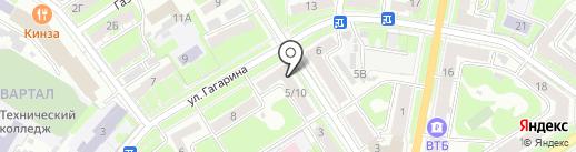 Магазин кондитерский изделий на карте Дзержинска