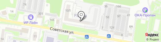 Радуга на карте Дзержинска