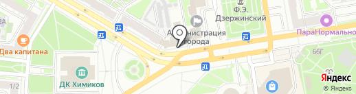 Росс Тур на карте Дзержинска