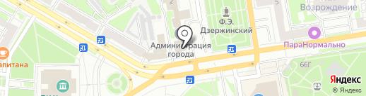 Администрация г. Дзержинска на карте Дзержинска