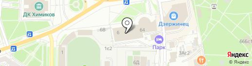 Заря на карте Дзержинска