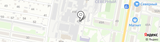 Дзержинская мебельная фабрика, ЗАО на карте Дзержинска