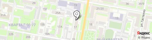 Любарский С.В. на карте Дзержинска