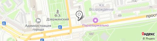 Банк Уралсиб, ПАО на карте Дзержинска
